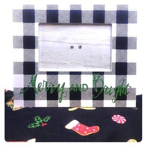 Other - Buffalo Check Christmas Photo Frame Black & White